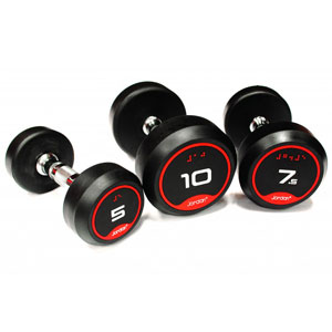 Jordan V2 Classic Rubber Solid End Dumbbell Sets