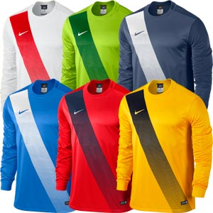 Nike Sash Long Sleeve Senior Football Jersey