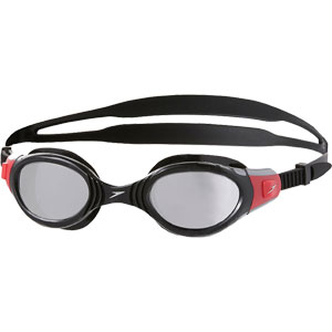 Speedo Futura Biofuse Mirror Swimming Goggles Black/Red