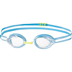 Speedo Junior Opal Optical Prescription Swimming Goggles Clear/Powder Blue