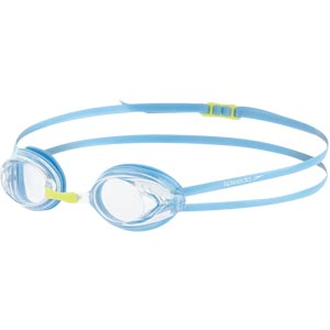 Speedo Junior Opal Optical Prescription Swimming Goggles Clear/Powder Blue