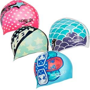 Speedo Junior Slogan Swimming Cap