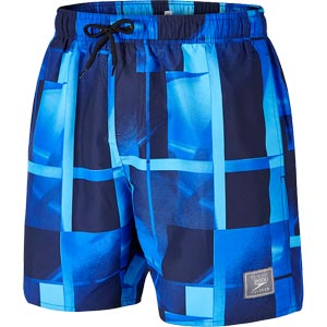 Speedo Beach Colours Printed Check Leisure Watershorts Blue