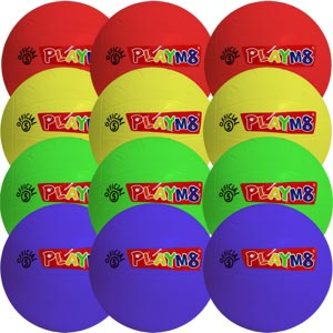 PLAYM8 Official 5 Playballs 12 Pack 20cm