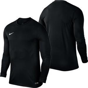 Nike Park VI Long Sleeve Junior Football Shirt Black