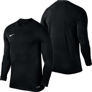 Nike Park VI Long Sleeve Senior Football Shirt Black