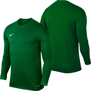 Nike Park VI Long Sleeve Junior Football Shirt Pine Green