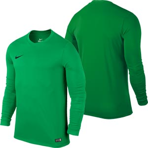 Nike Park VI Long Sleeve Junior Football Shirt Hyper Verde