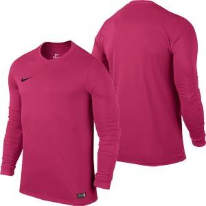 Nike Park VI Long Sleeve Junior  Football Shirt Vivid Pink