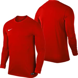 Nike Park VI Long Sleeve Junior Football Shirt University Red