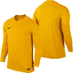 Nike Park VI Long Sleeve Junior Football Shirt University Gold