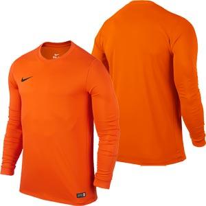 Nike Park VI Long Sleeve Junior Football Shirt Safety Orange