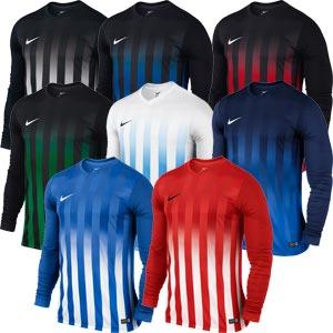 Nike Striped Division II Long Sleeve Senior Football Jersey