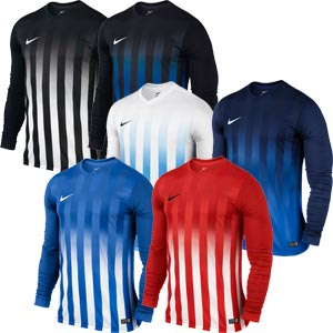 Nike Striped Division II Long Sleeve Senior Football Jersey