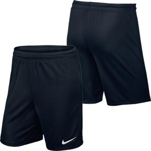 Nike Park II Knit Senior Football Shorts Black