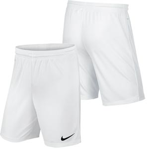 Nike Park II Knit Junior Football Shorts White