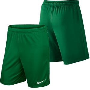 Nike Park II Knit Junior Football Shorts Pine Green