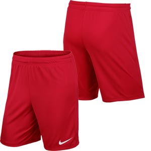 Nike Park II Knit Senior Football Shorts University Red