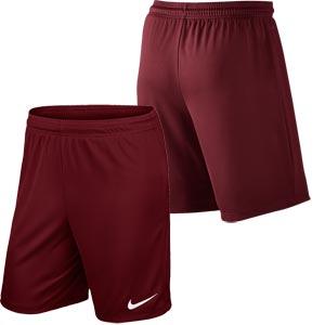 Nike Park II Knit Senior Football Shorts Team Red