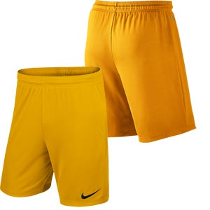 Nike Park II Knit Senior Football Shorts University Gold