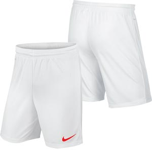 Nike Park II Knit Senior Football Shorts White/Red