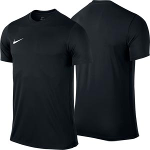 Nike Park VI Short Sleeve Junior Football Shirt Black