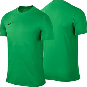 Nike Park VI Short Sleeve Junior Football Shirt Hyper Verde