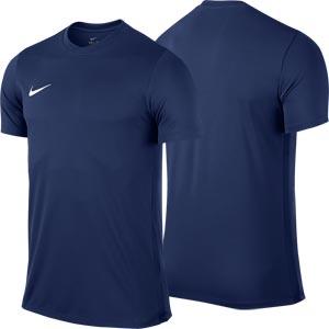 Nike Park VI Short Sleeve Junior  Football Shirt Midnight Navy