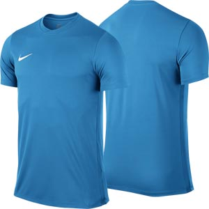 Nike Park VI Short Sleeve Junior Football Shirt University Blue