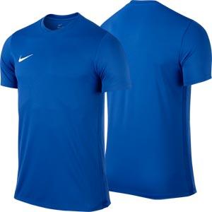 Nike Park VI Short Sleeve Junior Football Shirt Royal Blue