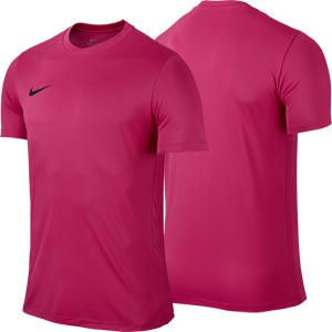 Nike Park VI Short Sleeve Junior Football Shirt Vivid Pink