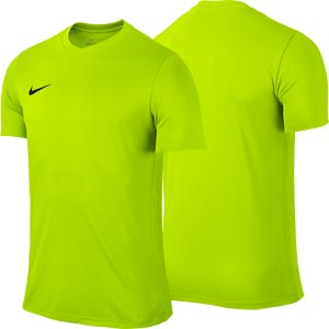 Nike Park VI Short Sleeve Junior Football Shirt Volt Yellow