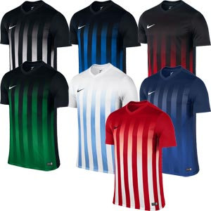 Nike Striped Division II Short Sleeve Senior Football Jersey