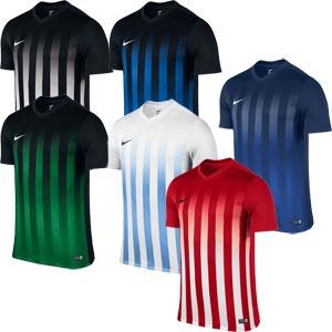 Nike Striped Division II Short Sleeve Senior Football Jersey