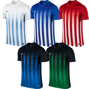 Nike Striped Division II Short Sleeve Junior Football Jersey