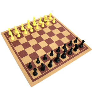 Chess Board With Chessmen Set