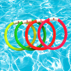 Newitts Fluorescent Sinker Ring 4 Set