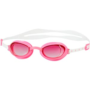Speedo Aquapure Female Swimming Goggles White/Pink
