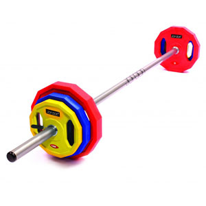 Jordan Classic Rubber Studio Barbell Set