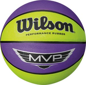 Wilson MVP Basketball Purple Yellow