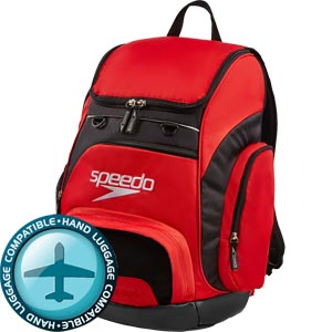 Speedo Teamster Backpack 35 Litre Red/Black