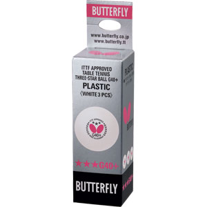 Butterfly 3 Star Plastic Table Tennis Balls