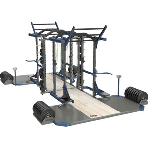 Exigo Olympic Elite Power and Power Combination Double Rack