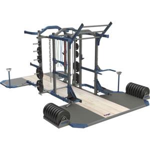 Exigo Olympic Elite Power and Half Combination Double Rack