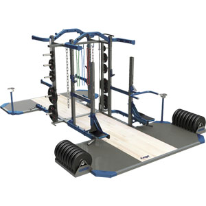 Exigo Olympic Elite Multi and Half Combination Double Rack