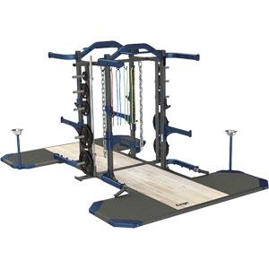 Exigo Olympic Elite Half and Half Combination Double Rack