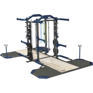 Exigo Olympic Elite Half and Half Combination Double Rack