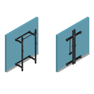 BeaverFit Wall-Mounted Rack