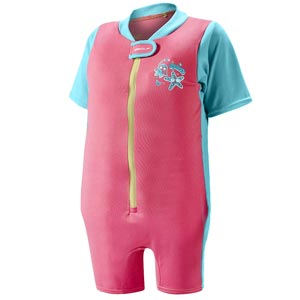 Speedo Sea Squad Float Suit Pink/Bali Blue