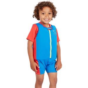 Speedo Sea Squad Float Suit Neon Blue/Lava Red